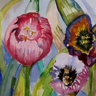 Art: Tulip Garden by Artist Delilah Smith
