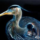 Art: BLUE HERON 1216 by Artist Marcia Baldwin