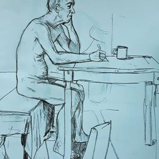 Art: Life Drawing: Letter by Artist Mark Satchwill
