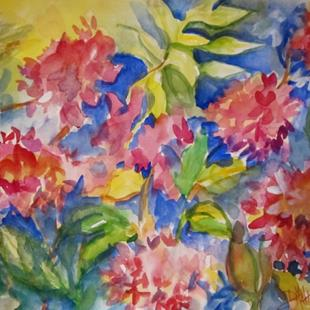 Art: Pink Hydrangeas by Artist Delilah Smith