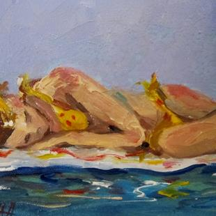 Art: Beach Diva 9-sold by Artist Delilah Smith