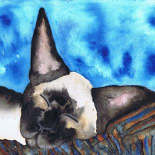 Art: SLEEPING SIAMESE c345 by Artist Dawn Barker