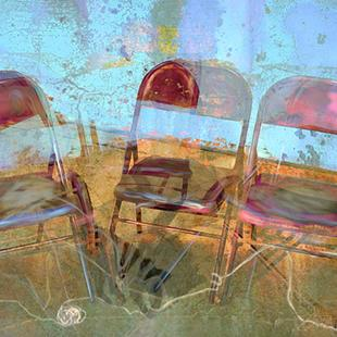 Art: Between the Wine and Musical Chairs by Artist Alma Lee