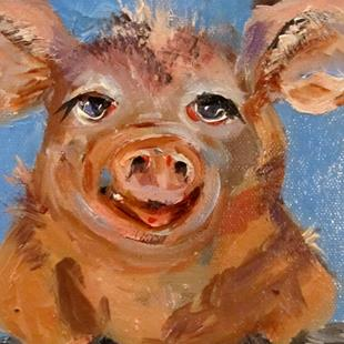 Art: Smiling Pig by Artist Delilah Smith