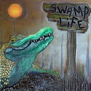 Art: Swamp Life by Artist Laura Barbosa