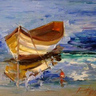 Art: Row Boat by Artist Delilah Smith