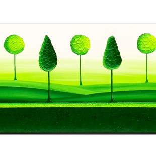 Art: FOREST GREEN by Artist Kate Challinor