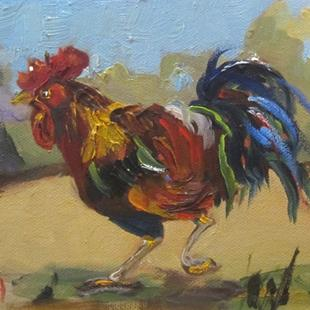 Art: Rooster by Artist Delilah Smith