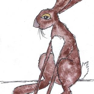 Art: DOZEY HARE h3304 by Artist Dawn Barker