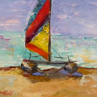 Art: Hobie Cat by Artist Delilah Smith