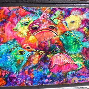 Art: Hide n Seek Coral Fish SOLD by Artist Ke Robinson