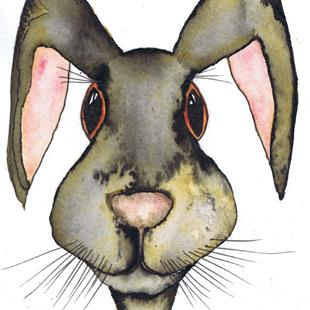 Art: HARE H3308 by Artist Dawn Barker