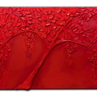 Art: RED TREE by Artist Kate Challinor