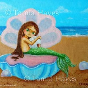 Art: Pearls on the Beach by Artist Tamia Hayes