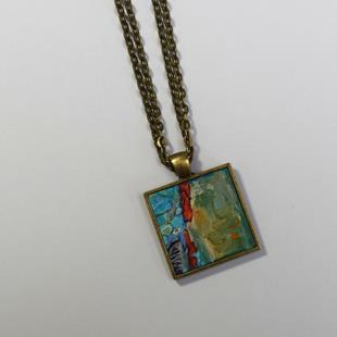 Art: Abstract Miniature Painting ~ Original Wearable Art (Sold) by Artist Dana Marie