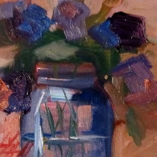 Art: Flowers in a Jar by Artist Delilah Smith