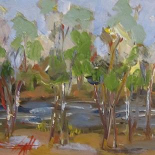 Art: Trees by the River by Artist Delilah Smith