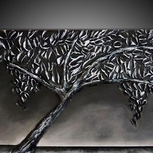 Art: BLACK SILVER TREE by Artist Kate Challinor