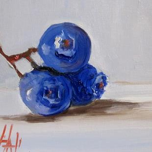 Art: Blue Berries by Artist Delilah Smith
