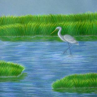 Art: Carolina Marsh by Artist Jackie K. Hixon