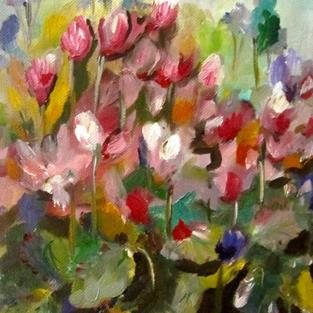 Art: Cyclamen No.3 by Artist Delilah Smith