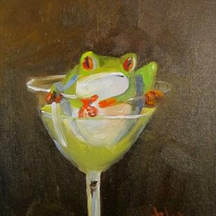 Art: Green Martini by Artist Delilah Smith