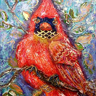 Art: Cardinal of Regal Disposition by Artist Alma Lee