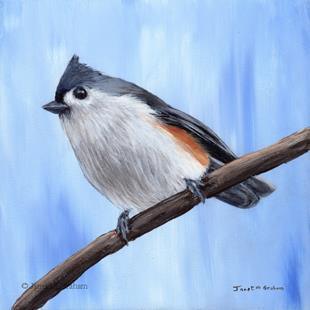 Art: Tufted Titmouse No 8 by Artist Janet M Graham