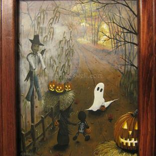 Art: Halloween Illustration: Did He Just Move by Artist J A Blackwell