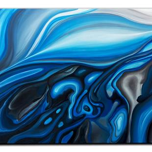 Art: BLUE MERGE by Artist Kate Challinor