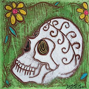Art: Tribal Skull by Artist Laura Barbosa