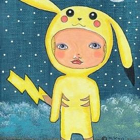 Art: Pokemon Fan Art - Pikachu Costume by Artist Sherry Key