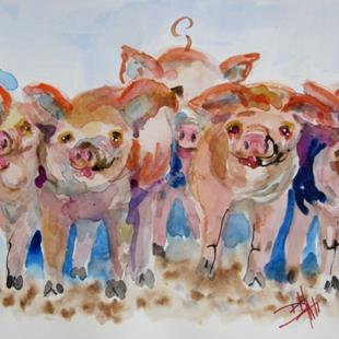 Art: Piggies by Artist Delilah Smith