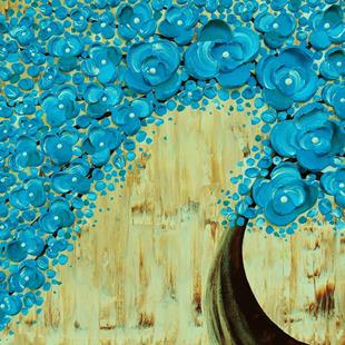 Art: The Water Blossom Tree V (sold) by Artist Amber Elizabeth Lamoreaux