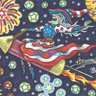 Art: 4TH OF JULY UP HIGH by Artist Susan Brack