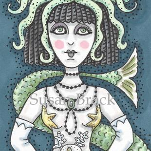 Art: GOTH CLEOPATRA MERMAID by Artist Susan Brack