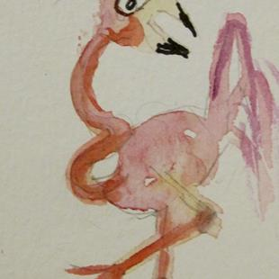 Art: Flamingo 1-sold by Artist Delilah Smith