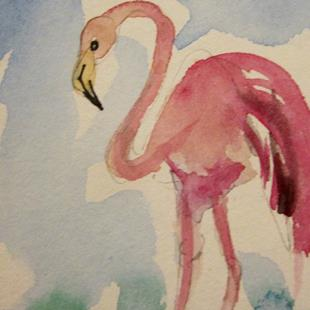 Art: Flamingo 3 by Artist Delilah Smith