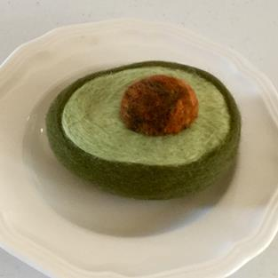 Art: Needle Felted Avocado by Artist Ulrike 'Ricky' Martin