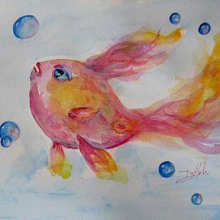 Art: Pink Fish by Artist Delilah Smith