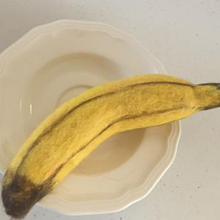 Art: Needle Felted Banana by Artist Ulrike 'Ricky' Martin