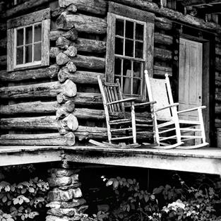 Art: High Rise Log Cabin (12x14 frame) by Artist Todd Suttles