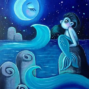Art: Moonlight Beauty by Artist Tamia Hayes