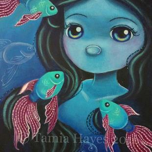 Art: School of Rainbow Fish by Artist Tamia Hayes