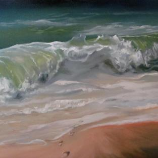 Art: Memories Into the Ocean by Artist Christine E. S. Code ~CES~
