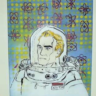 Art: Major Tom Pop Graffiti Art 50's Retro by Artist Paul Lake, Lucky Studios
