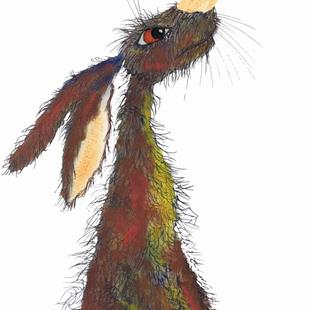 Art: BRIGHT HARE h3111 by Artist Dawn Barker