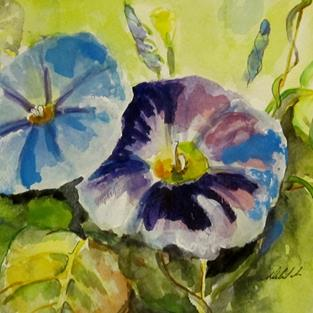 Art: Morning Glories by Artist Delilah Smith