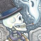 Art: SMOKE IN THE GRAVEYARD by Artist Susan Brack