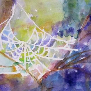 Art: Spider Web by Artist Delilah Smith